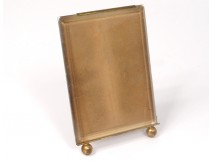 Small photo frame brass gilt antique glass frame 19th century