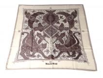 Square silk scarf Hermès Paris Grand Apparat horses 90cm Vintage J.Eudes