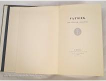 Vathek W.Beckford E.Goerg book Paris 1962