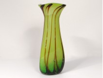 Large glass vase Murano Venice Italy F. Silviy italian twentieth century