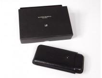 Cigar case leather black Alfred Dunhill London cabinet vintage twentieth century