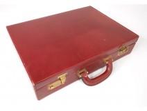 Attache case briefcase travel briefcase Gucci Italy leather vintage twentieth