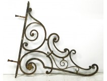 Stave sign store wrought iron flower antique french nineteenth century
