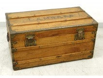 Travel trunk officer chest camphor brass gilt nineteenth century