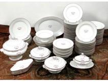 83 pieces porcelain tableware set Paris Bourgeois Rue St-Honoré XIXth