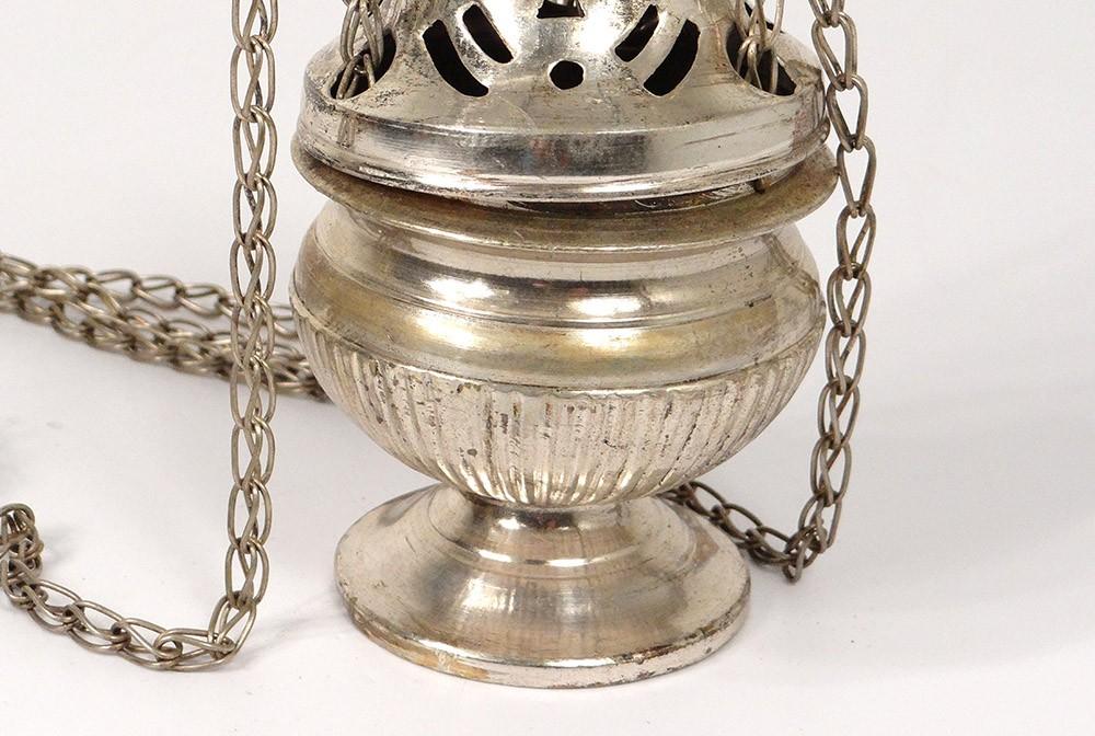 Encensoir bronze argent glise censer xix me si cle ebay for Argenture miroir