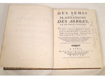 Book planting trees plantations Duhamel du Monceau Paris 1760