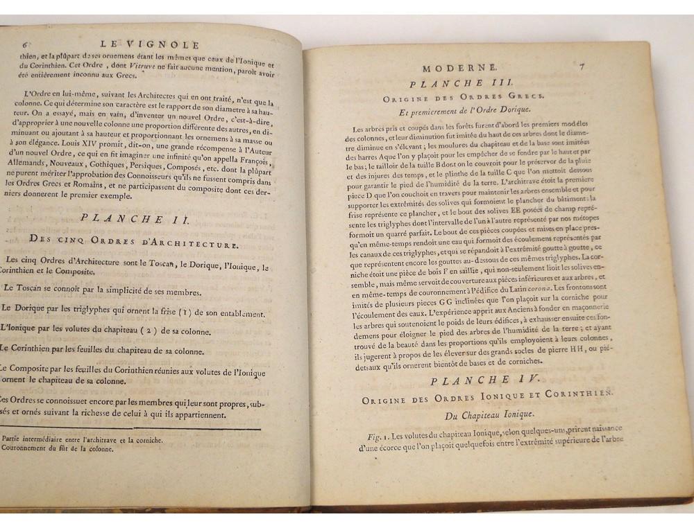 Modern Architecture Origin the book modern architecture vignola lucotte 1781