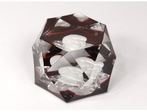 Baccarat Crystalline Crystal Sulfide Paperweight President Kennedy
