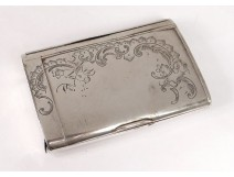 Russian silver cigarette case Moscow Skvortsov 180gr nineteenth