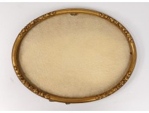 Oval frame gilded wood flowers foliage antique french frame nineteenth century