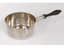 Sterling silver saucepan blackened wood handle silver saucepan 253gr nineteenth