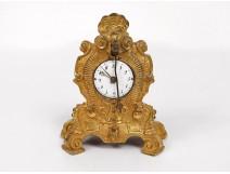 Pendulette cartel miniature Louis XV gilt bronze clock nineteenth clock