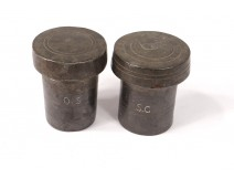 Pair ointment tins oil ampoules SC SC christian church eighteenth century