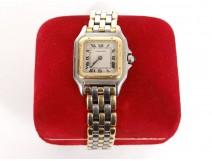 Panther Cartier women's watch 3 rows 18K steel watch twentieth century