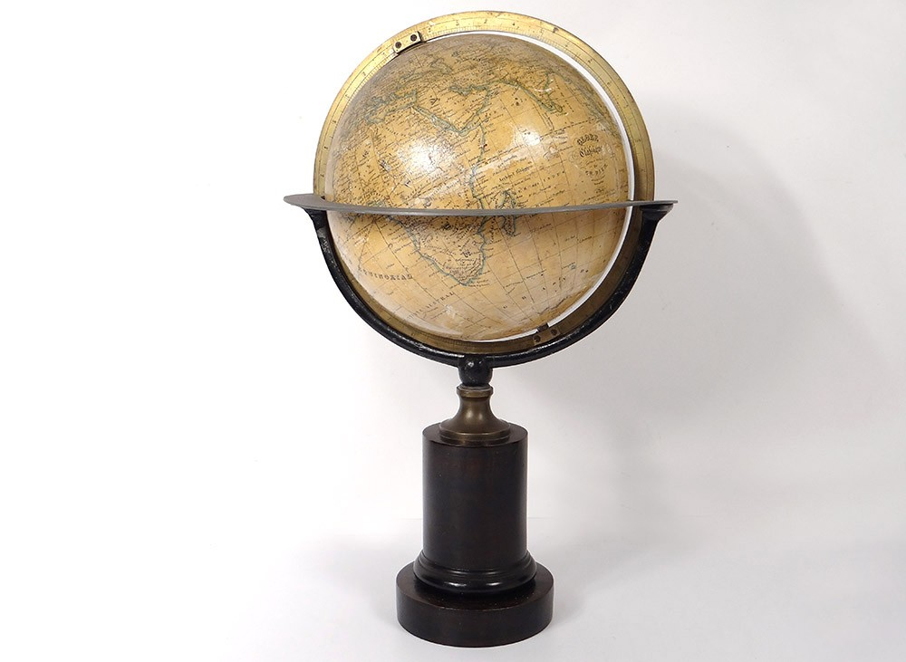 globe terrestre mappemonde charles dien paris cercle m ridien bois xix me ebay. Black Bedroom Furniture Sets. Home Design Ideas