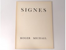 Poem Signs Roger Michael engraving René Demeurisse Paris 1958 n ° 2 twentieth