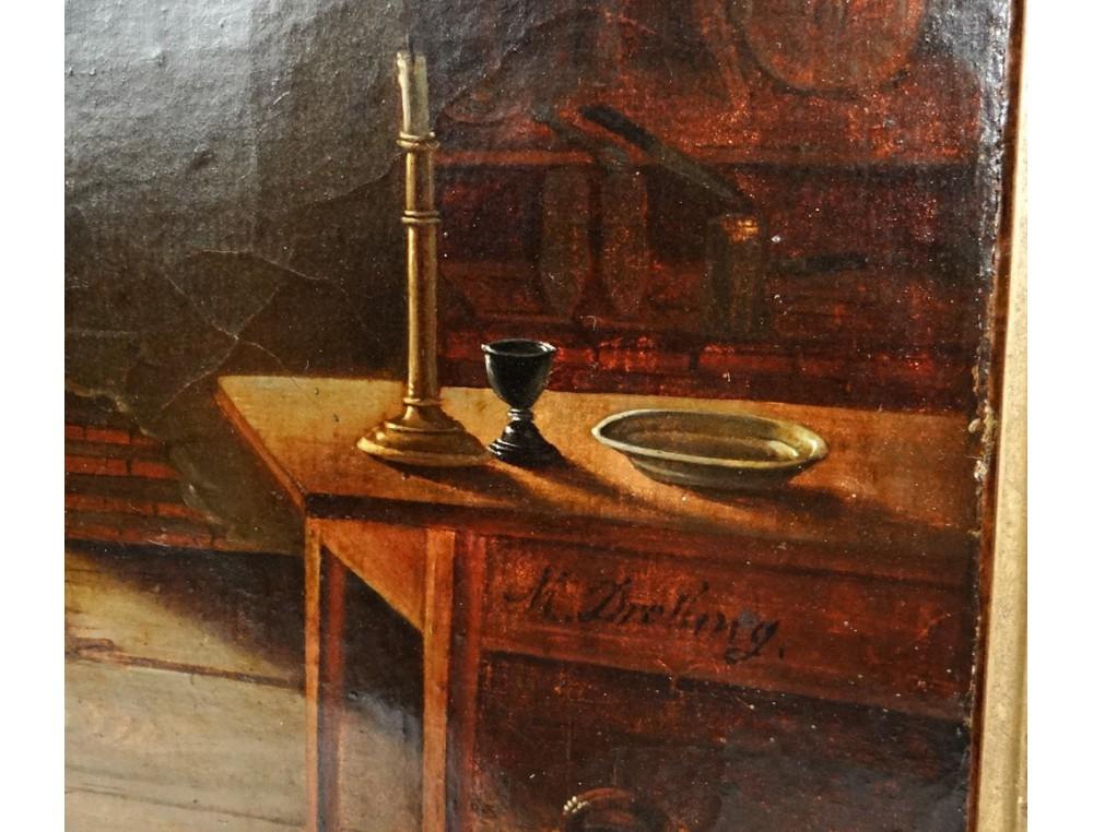 HST tableau Martin Drolling soldat hussard Empire enfant troubadour ...