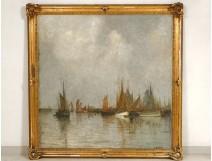 HST large marine vessels sailing expo Ghent Belgium Henri Callot 1913 XXè
