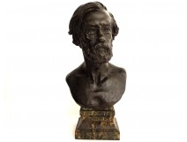 Large bronze bust sculptor Jouffroy EA. Hiolle depth Molz nineteenth century