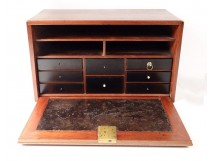 Small mahogany travel cabinet ebony drawers eighteenth century