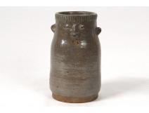 Vase anthropomorphic ceramic pot sculpture sandstone Annick Lodereau 1950 1970