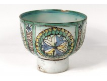 Zlafa Harira bowl faience polychrome Morocco Maghreb Fez rose window eighteenth century