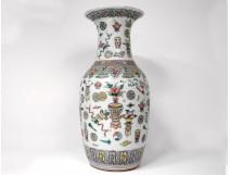 Large Chinese porcelain vase vases vases flower lamps China signed 19th