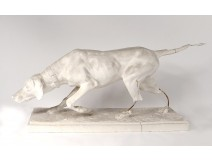 Sculpture Isidore Bonheur plaster workshop dog pointer hunting hunting nineteenth