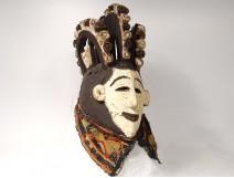 African polychrome wood mask Igbo Nigeria Agbogho Mmwo Africa mask nineteenth