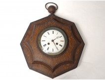 Pendulum bullseye octagonal painted sheet clock nineteenth century