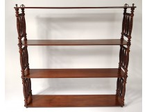 Wall shelf carved mahogany Louis Philippe nineteenth century
