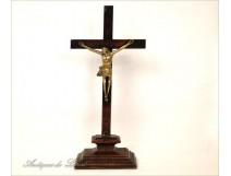 Christ wooden crucifix and gilded bronze, seventeenth