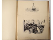 29 pen drawings A. Brown Cruise Norway Medjed newspaper The 1897 Yacht