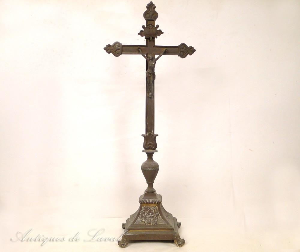 Christ crucifix en bronze argent xixe ebay for Argenture miroir