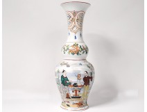 Porcelain baluster vase Bayeux Chinese characters flowers Phoenix nineteenth