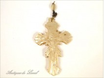 Cross Rosary Charles X, pearl, nineteenth