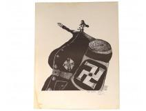Ink of China Alain Ghertman caricature soldier Nazi officer war 1972