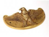 Inkwell Maurice Frécourt gilt bronze animal eagle Art Deco twentieth century