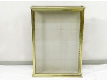 Showcase presentation wall old brass gilded bronze early twentieth century