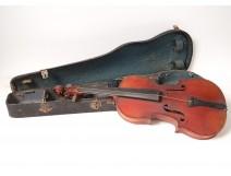 Violin signed A. Salvator HEB Paris Mirecourt french violin nineteenth twentieth