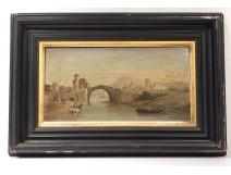 HSP orientalist painting Ferdinand Bonheur Oued bridge Algeria Africa nineteenth