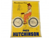 Hutchinson Tire advertising poster of ap. Mich Bouquet Paris 20th century