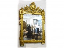 Mirror mirror carved gilt flowers guilrande 18th
