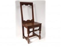Chair lorraine oak antique french flesh seventeenth eighteenth century