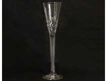 Large crystal stemmed glass foot twist honeycomb 30.5cm nineteenth