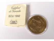 Medal coin ecu Venetian bronze 1992 Europe Ceres Rodier souvenir