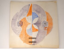 Watercolor project Ernst Van Leyden lithography Rotation I 1967 composition
