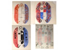 Ensemble watercolor projects lithography Ernst Van Leyden Provo Warhol 1967
