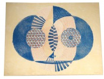 Color lithograph Ernst Van Leyden Abstract composition 1959 n ° III